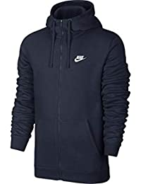 Nike Sportswear Giacca con Cerniera e Club Hoodie, Uomo, Obsidian Blue/White, XX-Large