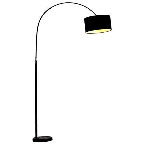 LED-Stehlampe - Moderne Gebogene Stehlampe Mit Stoffschirm Und Marmorsockel - Expanding Pole Stehlampe, Geeignet Für Wohnzimmer Büro Schlafsaal Oder Schlafzimmer (Der Hai Eisen)