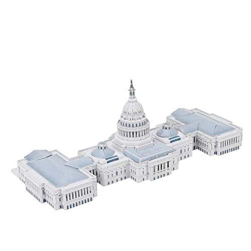 United States Capitol 3D Puzzle-Modell, Modell Einer 3D-Stadt Kein Klebstoff erforderlich Hohe...