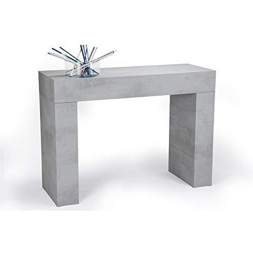Mobili Fiver, Tavolo Consolle Fissa Evolution, Cemento, 110 x 40 x 80 cm, Nobilitato, Made in Italy