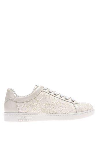 P615275D-702.Sneaker in macramè.Ivory.38