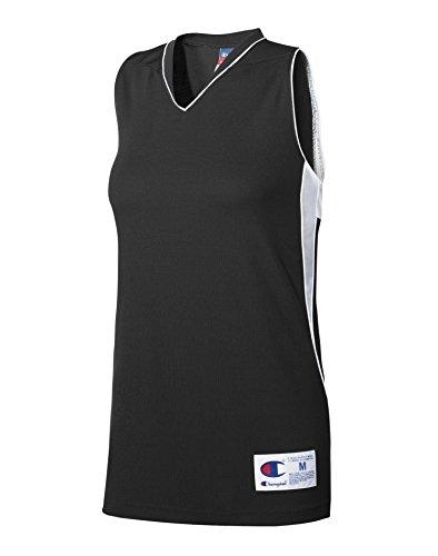 Champion - T-shirt de sport - Sans Manche - Femme noir/blanc