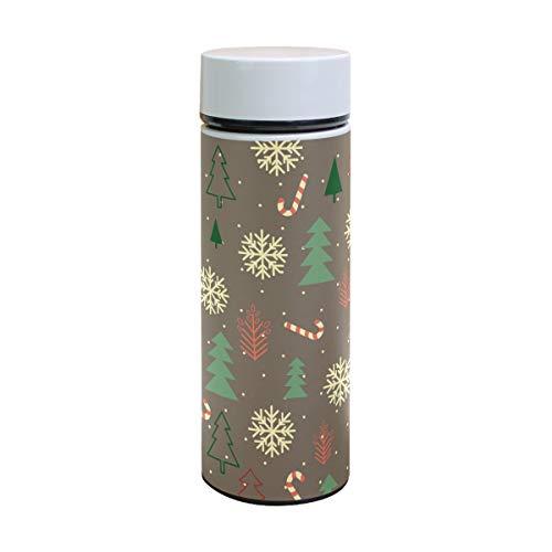(Thermoskanne mit Weihnachtsbaum, Schneeflocke, Edelstahl, isoliert, für Kinder, Thermosflasche, Vakuum, Kaffee, Thermobecher, 350 ml)