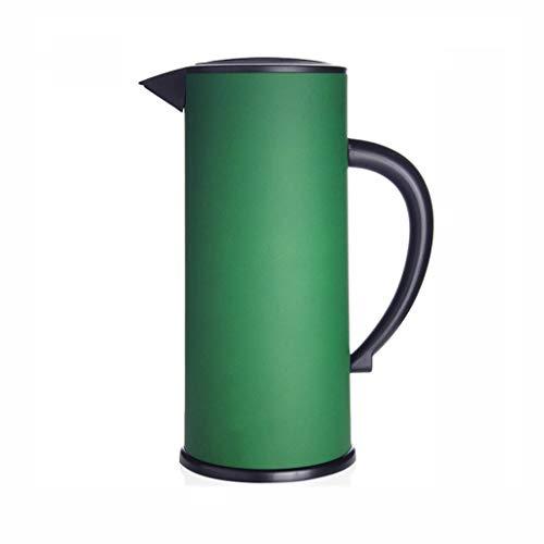 WLHW Trinkflaschen Thermoskannen, Haushaltsglas Liner Teekanne Große Kapazität Langzeit Isolationsschloss Kaltwasserflasche 1.7L S7 (Farbe : Green)