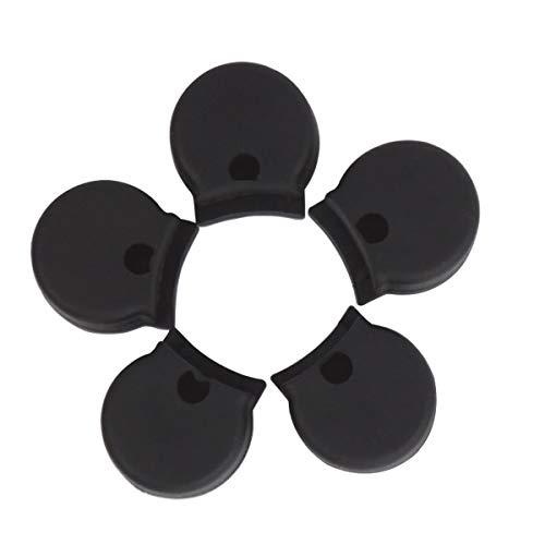 LIOOBO Daumenschoner aus Gummi Klarinette Daumenlehne Kissen Protector Musikinstrument Zubehör 5 Stücke (Schwarz)