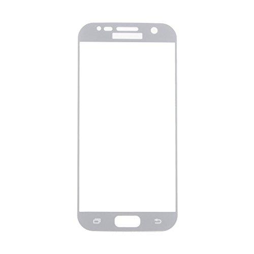 Gazechimp 3D Full Coverage Screen Protector Galaxy S7 Schutzfolie, Edge Displayschutz Schutzfolie Schutzglas für Galaxy S7 Panzerglas Tempered Glass Hartglas für Samsung Galaxy S7 - Transparente - Silber, one size (Screen Protector Film Lcd)