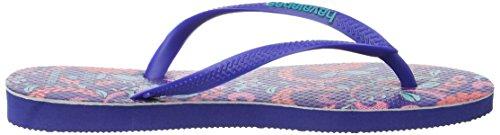 Havaianas Slim Liberty - Sandales Plateforme femme Bleu - Blue (Marine Blue 2711)