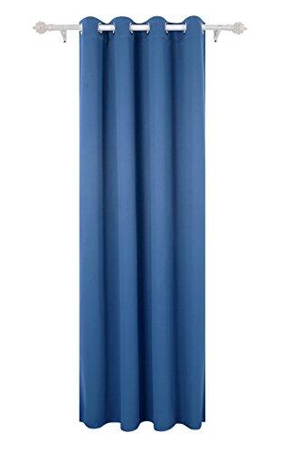 Deconovo tende oscuranti termiche isolanti tende oscuranti con occhielli 140x290 cm blu acciaio 1 pannello