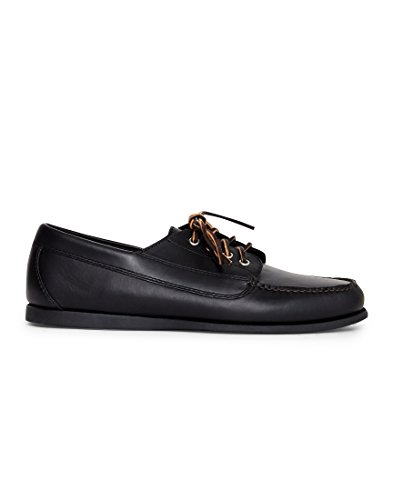 G.H. Bass and Co. Camp Moc Jackman Pull Up Black Mono Leather...