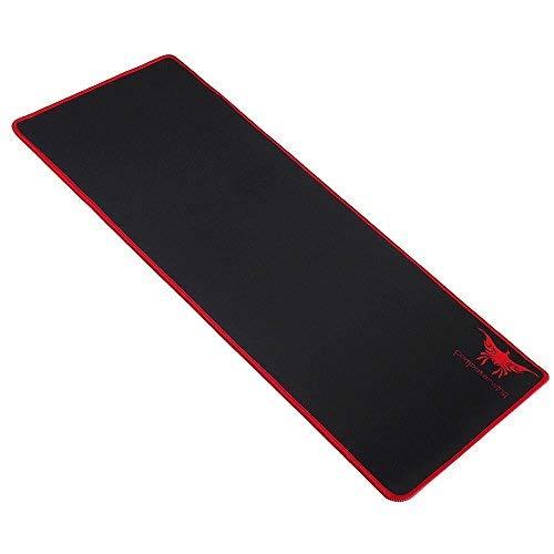 Flyox Großes Gaming Mauspad, Wasserdicht mit Anti-Rutsch-Gummi-Basis (701 * 300 * 2 mm) (Schwarz) -