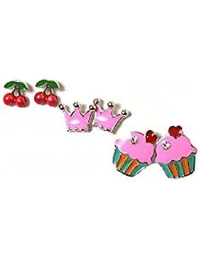 Ohrringe mit rosa-rot Kirsche Kr