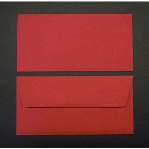 Blanke Briefumschläge DINlang 100g/qm gummiert VE=100 Stück rot