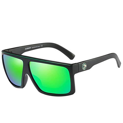 FRAUIT Herren Polarized Sonnenbrillen Outdoor Fahren Männer Frauen Sportbrillen Sportbrillen Ovaler Rahmen Bunt Gummi Brille Ultra Light Metall Rahmen