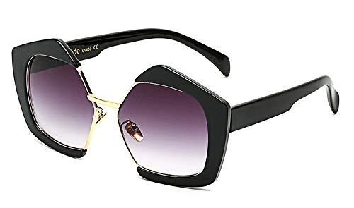 LAMAMAG Sonnenbrille Retro Halb Randlose Quadratische Sonnenbrille Weibliche Frauen Männer Männliche Sonnenbrille Felge Schwarz Beige Braun Fahren Uv400 Oculos, 1