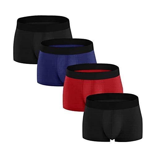 Herren Boxershorts Unterwäsche Unterhosen Baumwolle Männer Retroshorts Klassischen Grundfarben Locker & Weiche Basic