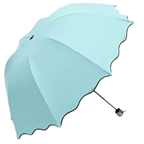 LXY* Regenschirm mit Blumen, Kunststoff, Schwarz grün -