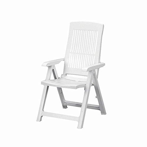 Vigor 9693610 tampa sedia poltrona, pieghevole, in polipropilene, bianca