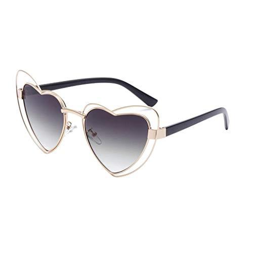 Qiuqiu Home Mode Liebe Herz Rahmen Retro Strahlenschutz Sonnenbrille für Frauen Männer