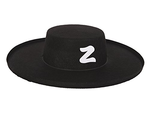 viving Kostüme viving costumes201599 Zorro Hat für Kinder (53 cm, One Size)