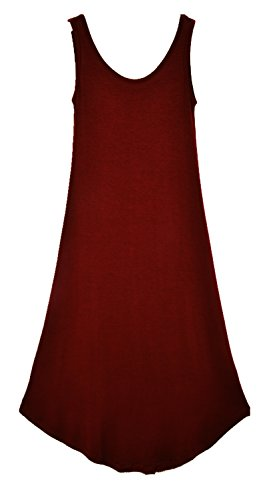 sexylady - Robe - Solid - Sans Manche - Femme taille unique Date Red