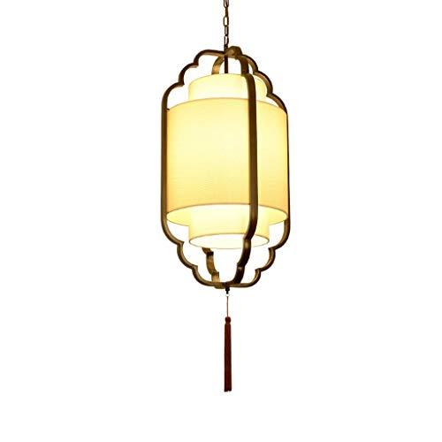Yankuoo Retro Einfache Kronleuchter, E27 Chinesische Kreative Vogelkäfig Kronleuchter, Geeignet Für Wohnzimmer Esszimmer Schlafzimmer Bar Dekoration (Color : Bronze) -