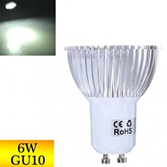 GU10 Dimmable 6W 430-460LM Pure White spot LED Ampoule 220V