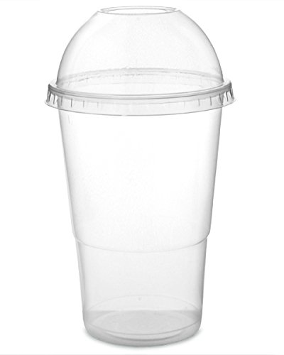 50 x 12oz Clear PET Smoothie Cups and 50 Smoothie Lids Test