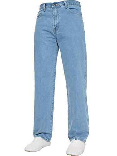 Bleach Wash Denim (Blue Circle Herren GERADES Bein Einfach schwer Works Jeans Denim Hose alle Hüfte große Größen - Bleach wash, 30W x 32L)