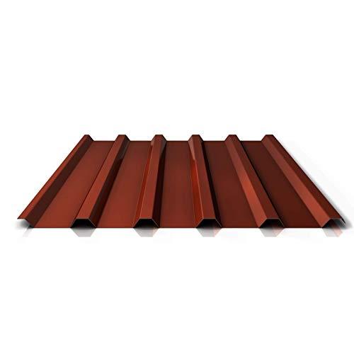 Trapezblech | Profilblech | Dachblech | Profil PA35/1035TR | Material Aluminium | Stärke 0,70 mm | Beschichtung 25 µm | Farbe Rotbraun