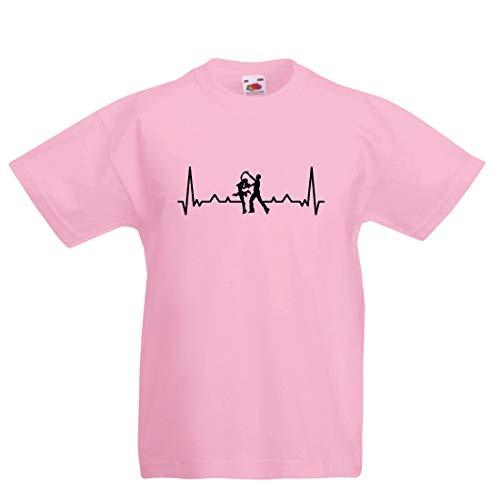 lepni.me Kinder Jungen/Mädchen T-Shirt Tanzen mit Herzschlag, Tanz-Liebhaber-Shirt, Tänzer-Outfit (9-11 Years Pink Mehrfarben) (Halloween Biker-mädchen-ideen Für)