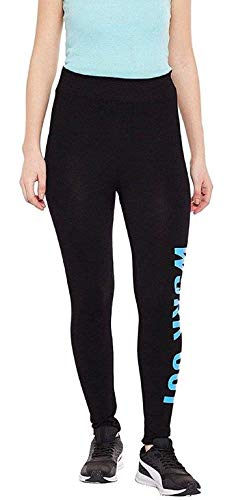 Rihav Women's Polyester Blend Stretchable Yoga Pant Gym Leggings (Black,...