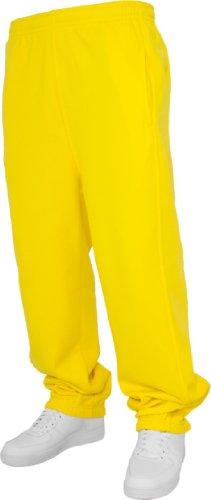 Urban Classics Damen Hose Loose Fit Sweatpants Gelb - Gelb