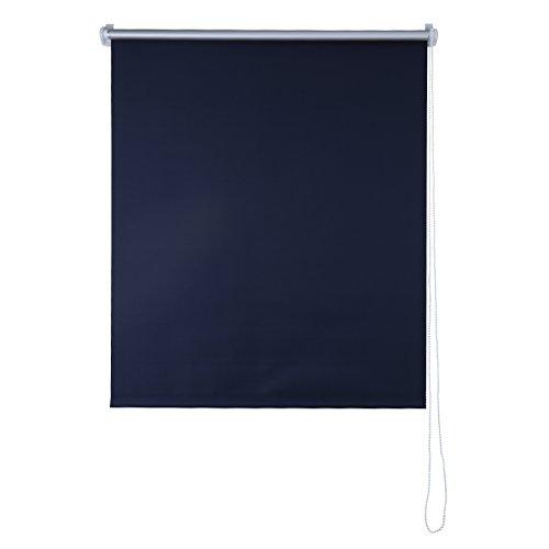 SHINY HOME Stores Enrouleur Isolant Thermique Store Occultant Rideaux pour Fenêtres Montage Simple - (L x H)100 x 230 cm - Bleu Foncé