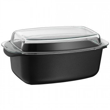 WMF Covered Roasting Pan with Glass, Transparent, 38 x 22 cm