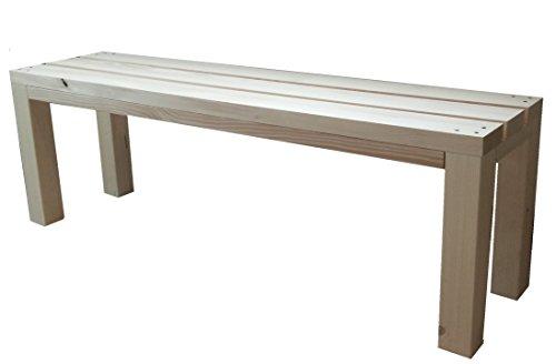 Gartenbank Sitzbank Holzbank terrassenmobel parkbank für Innen und Außen geeignet 200x38.5x50 cm. Nach Maß verfügbar!