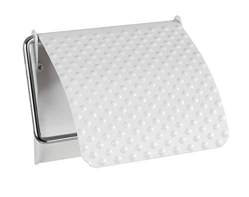 Wenko Toilettenpapierhalter, Stahl, Weiß, 13 x 2,5 x 12 cm