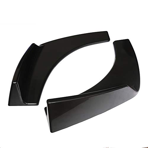 KKmoon 2 piezas Alerones Delanteros Parachoque Resistente Rasguño Universal para Coche Vehículo