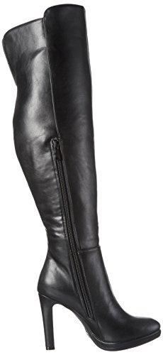 Buffalo Y436-191 Sq P1735a Pu, Bottes hautes avec doublure froide femme Noir - Noir (01)