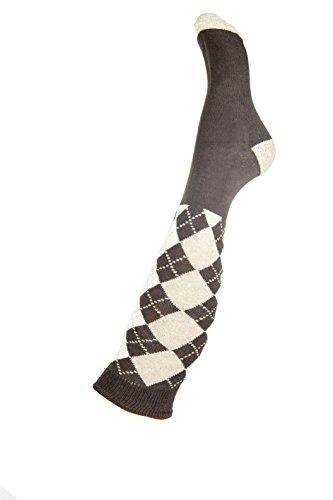 HKM Erwachsene Reitsocken-Windsor Socken, Dunkelbraun/Camel, 38/40