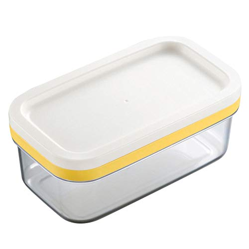 YAOHEHUA Butterdosen Bunt Behälter-Butterkasten-Küchen-Wächter-Hauptausschnitt-Käse-Speicher-Rechteck, Das Tragbaren Teller Mit Deckel-Lebensmittel Versiegelt
