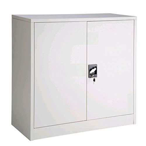Katherinabade Aktenschrank Büroschrank Abschließbar mit Rollen 3 Fächer 85x39x90cm Stahlblech...