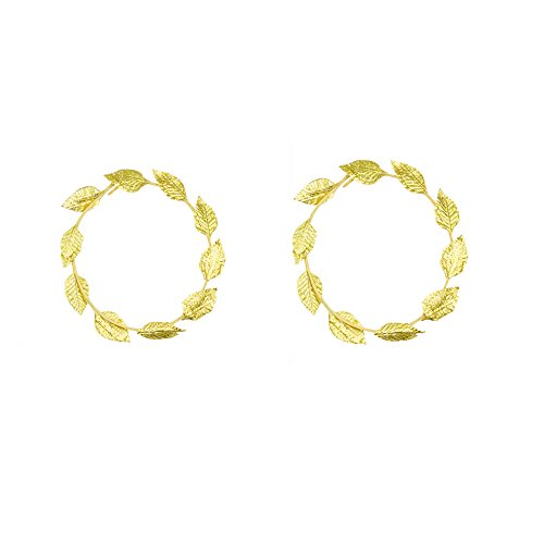 Mytoptrendz® 2PCS Römische Griechische Gott Göttin gold leaf Lorbeerkranz, der Kopfbedeckung Toga Kostüm Party wählen aus 2Style (Style 1Gold Leaf 2Stück)