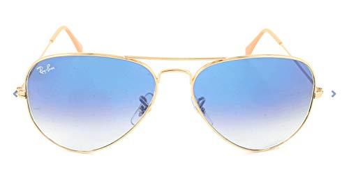 Ray Ban Unisex Sonnenbrille Aviator Metal, Einfarbig, Gr. Large (Herstellergröße: 58), Gold (001/3F)