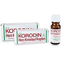 Korodin Herzkreislauftropfen aus Weißdornfrucht-Fluidextrakt und D-Campher, bei Schwindel infolge niedrigen Blutdrucks... preisvergleich bei billige-tabletten.eu