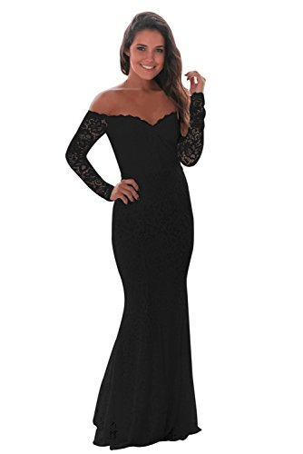 emmarcon elegante abito cerimonia da donna a sirena vestito lungo in pizzo  da party festa ba1dc4493a08