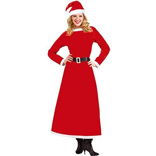 Weihnachten Weibliche Weihnachten Kostüm Cosplay Queen Dress Kleid Weihnachten Kostüm, Rot, Größe (Red Queen Kostüm Muster)