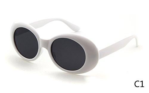 BuyWorld WHO Cutie 2018 Clout Goggles Men Women Vintage Retro Neff Small Oval Tint Male Sunglasses Nirvana Kurt Cobain Sun Glasses 421B