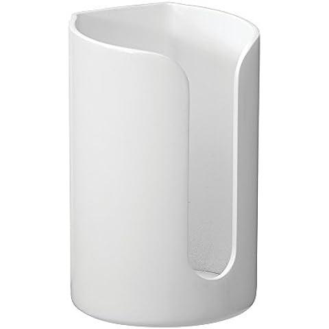 InterDesign Affixx dispensador de vasos desechables, blanco
