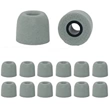EarphonesPlus Ohrkissen für Kopfhörer, Memory-Foam, Ersatzteile, Mittelgroß,Grau, 6Paar