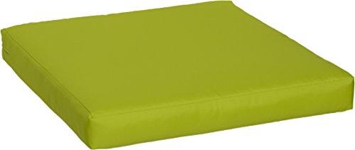 Gartenstuhl-Kissen Premium Lounge Sitzkissen Palettenkissen im Farbton hellgrün ca. 60 x 60 cm ca. 9 cm dick aus 100% Polyester wasserabweisend